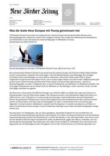Was die letzte Hexe Europas mit Trump gemeinsam hat
